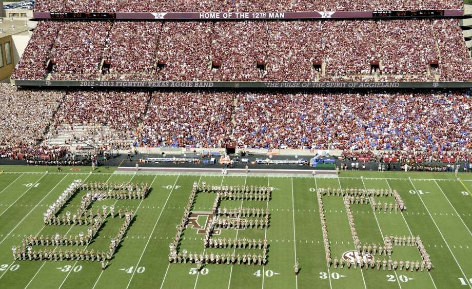 The Texas A&M marching band spells out SEC during halftime of a Sept. 8, 2012 game. Photo: Dave Einsel, Associated Press