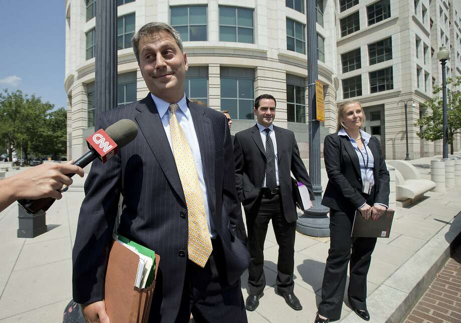 Assistant U.S. Attorney Michael DiLorenzo, lead prosecutor in the case against the Libyan militant accused of masterminding the Benghazi attacks, leaves federal court in Washington. Photo: Manuel Balce Ceneta, Associated Press