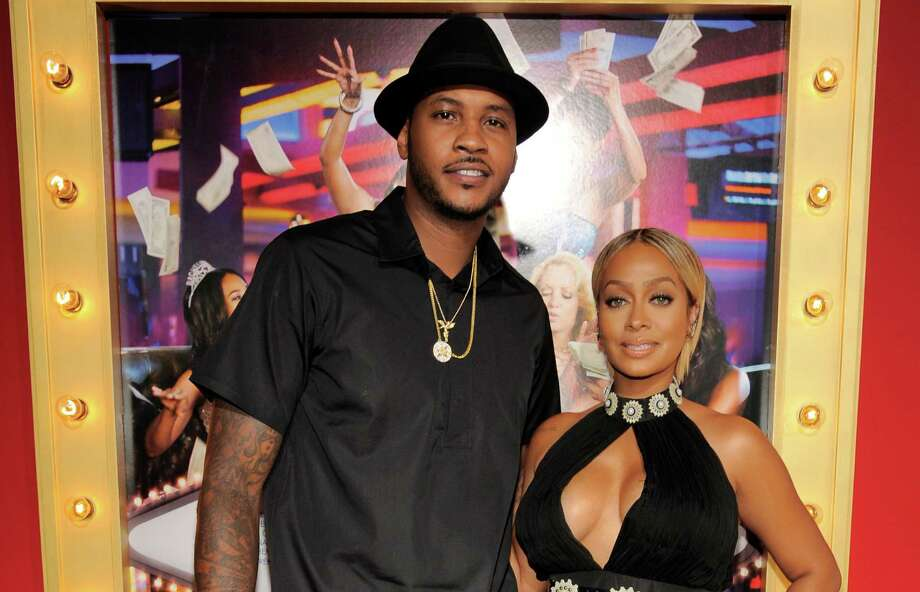 "Houston would love to welcome NBA basketball player Carmelo Anthony and his wife La La Anthony to town. The pair recently attended the premiere of her new film, ""Think Like A Man Too,"" in Los Angeles. Photo: Chris Pizzello, INVL / Invision"