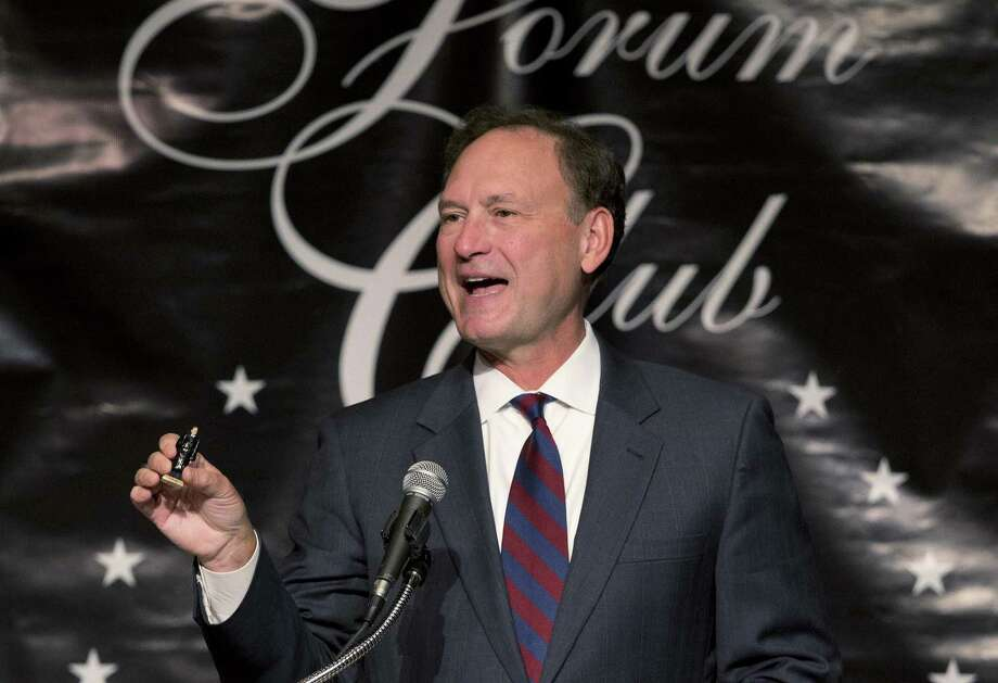 U.S. Supreme Court Justice Samuel Alito wrote the high court's majority opinion in the Hobby Lobby case, which restricts religious freedom for women workers while declaring corporations persons. Photo: Wilfredo Lee / Associated Press / AP