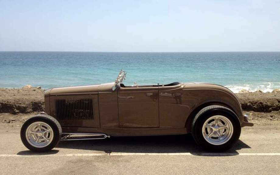 Darrell and Stephanie Freitas, owners of EZ Work Street Rods in Spring, rebuilt this 1932 Ford Deuce Roadster and drove on a round trip to California.
