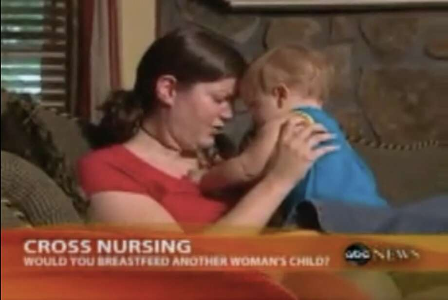 "In 2009, 'Good Morning America' reported on the small but growing trend of cross nursing, or moms breast-feeding one another's babies. In the segment, Baby Talk editor-in-chief Lisa Moran said, ""Cross nursing is a logical extension of the rising breast-feeding rates we have seen in the past 15 years, and moms are really committed to breast-feeding exclusively and finding new ways to do that."" Photo: ABC"