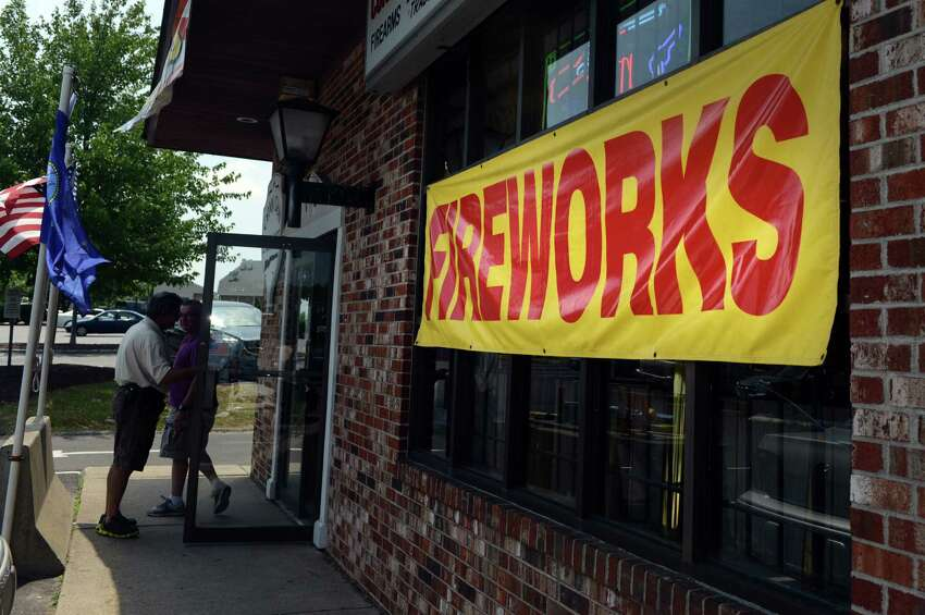 Fireworks for sale at Connecticut Gun Exchange in Monroe, Conn., Wednesday, July 2, 2014.