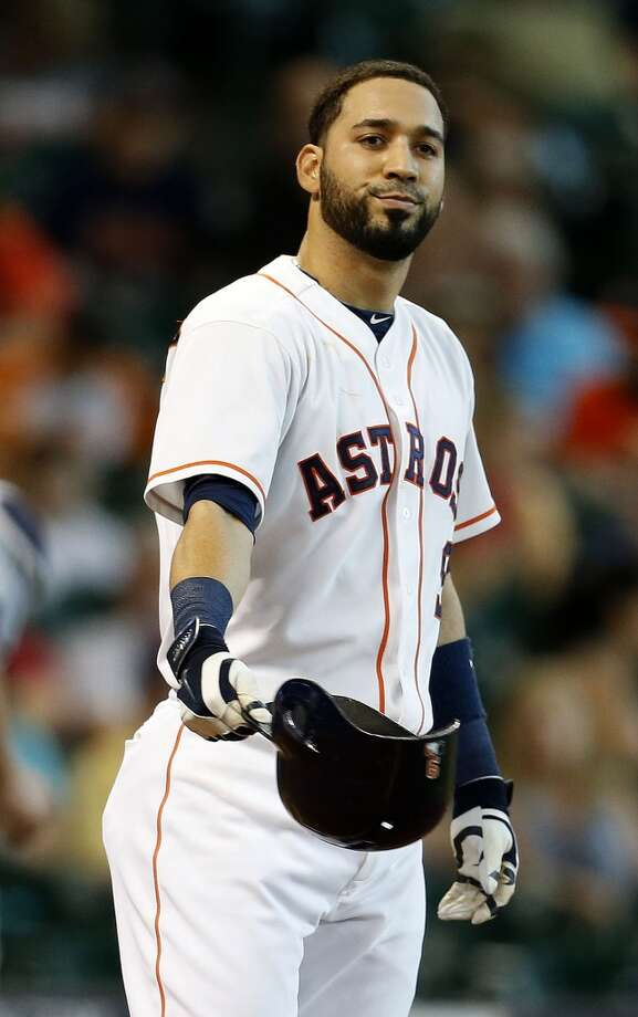 July 2: Mariners 5, Astros 2  Astros shortstop Marwin Gonzalez strikes out during the fifth inning. Photo: Karen Warren, Houston Chronicle