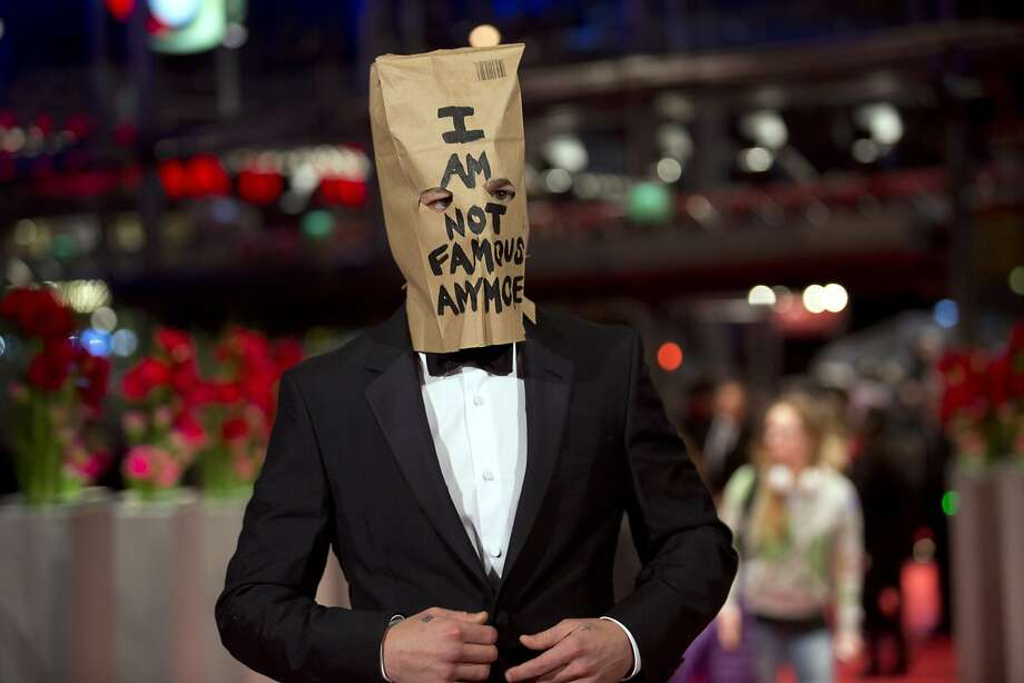 Shia LaBeouf made a spectacle of himself at Cannes this year by wearing a bag over his head on the red carpet. Photo: Axel Schmidt, Associated Press