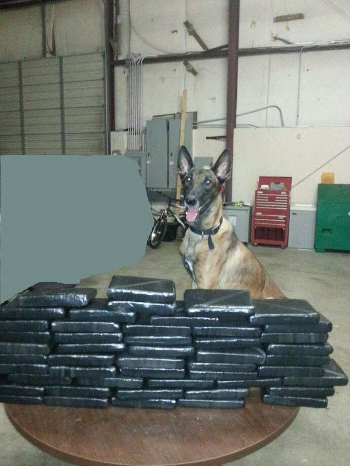 July 1, 2014:Forty-eight bundles (115.4 pounds) of cocaine, valued at $1,464,400 was recovered in a traffic stop July 1, 2014 in Fort Bend County. (Fort Bend County Sheriff's Office)