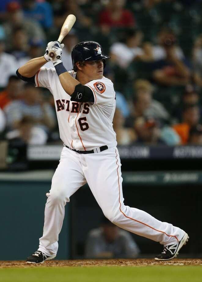 Astros infielder Kiké Hernandez (6) at bat during the eighth inning. Photo: Karen Warren, Houston Chronicle
