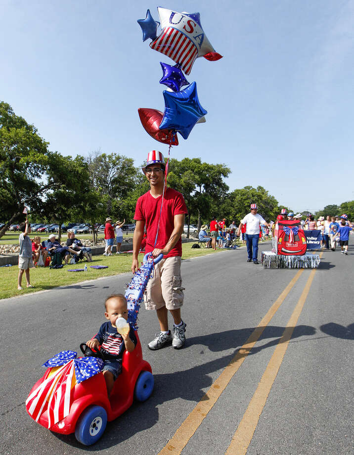 It's an all-ages parade that kicks off at 10 a.m. in Leon Valley. The fireworks will begin at dusk. Photo: Express-News File Photo / Prime Time Newspapers 2013