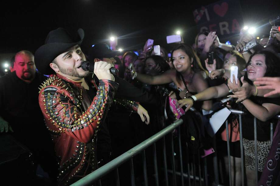 "Gerardo Ortiz, shown at a concert last month in Ventura, has 61 million YouTube views for his video of ""Damaso,"" a song about a leader of the Sinaloa drug cartel. Photo: Chris Pizzello, Associated Press"