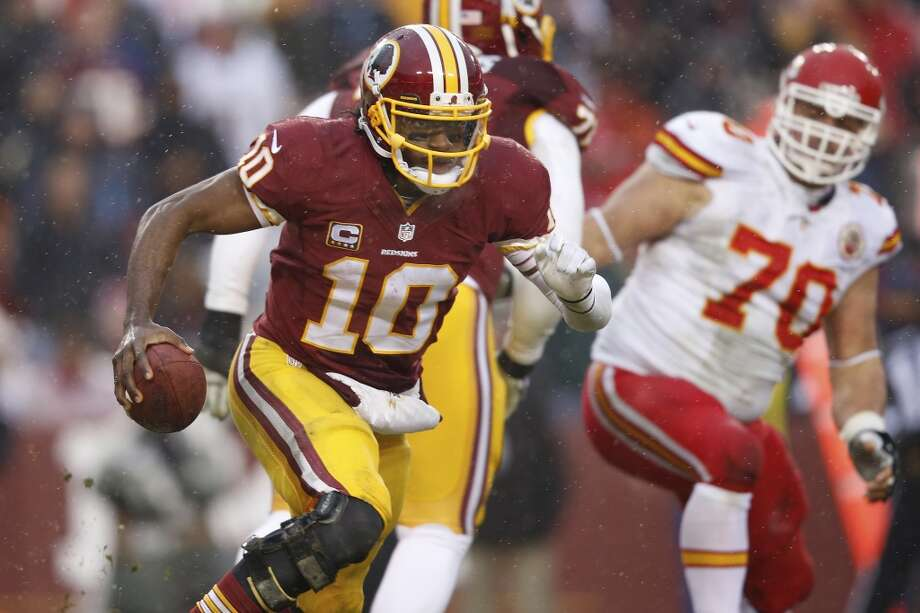 TBD. Robert Griffin III, Washington Redskins2013 stats (13 games): 3,203 passing yards (489 rushing), 16 TD, 12 INTRGIII still might fulfill the promise he showed during his incredible rookie campaign, but he looked like a player who'd lost his best weapon last season after knee injuries he suffered in the 2012 playoffs. Photo: Evan Vucci, Associated Press