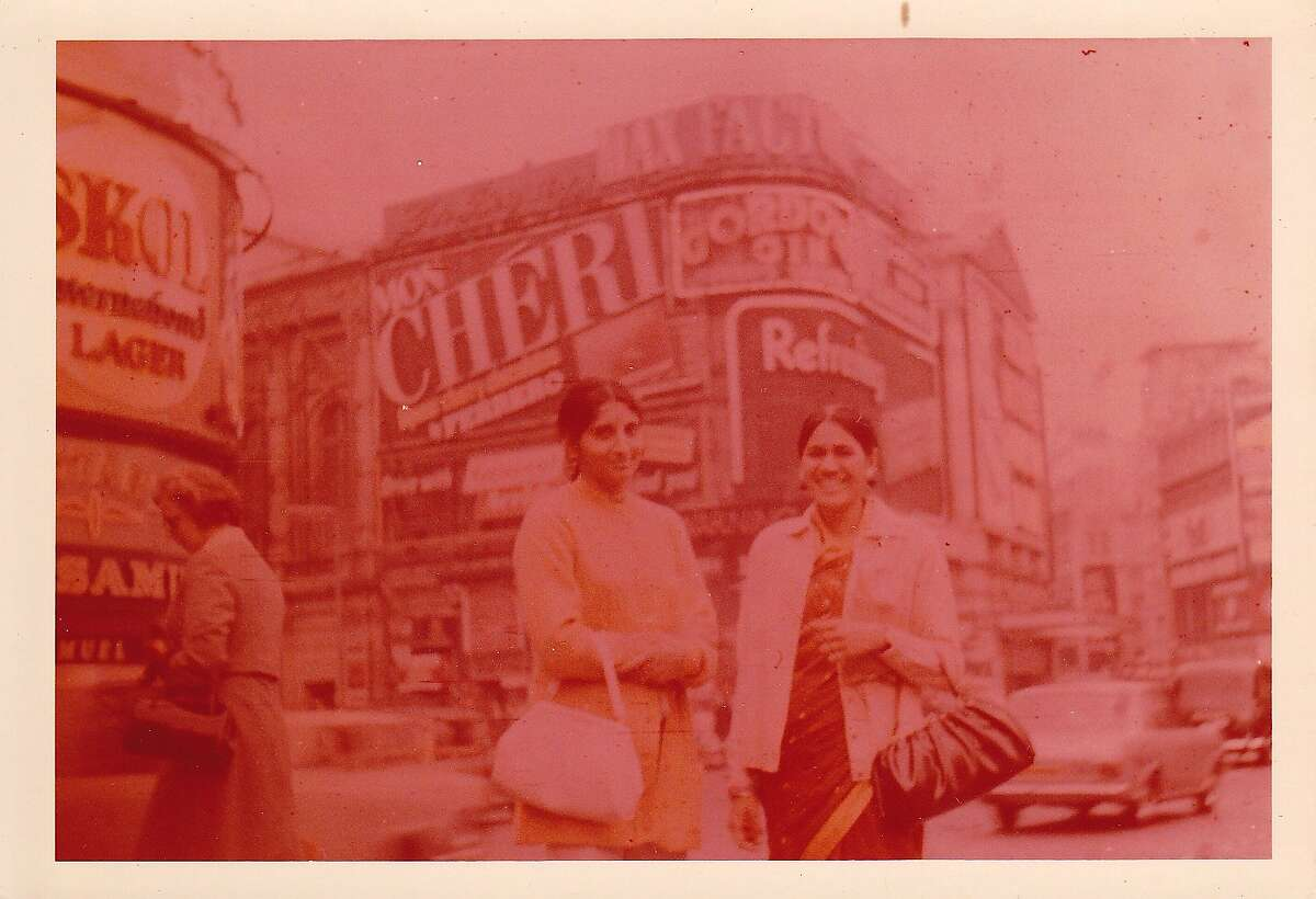 Preeti Mistry's mother and aunt in London in the 1970s.