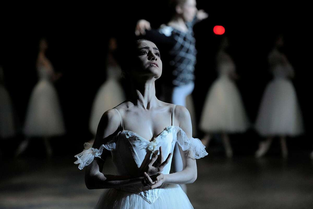 Caption: San Francisco Ballet principal dancer Mathllde Froustey in the title-role of
