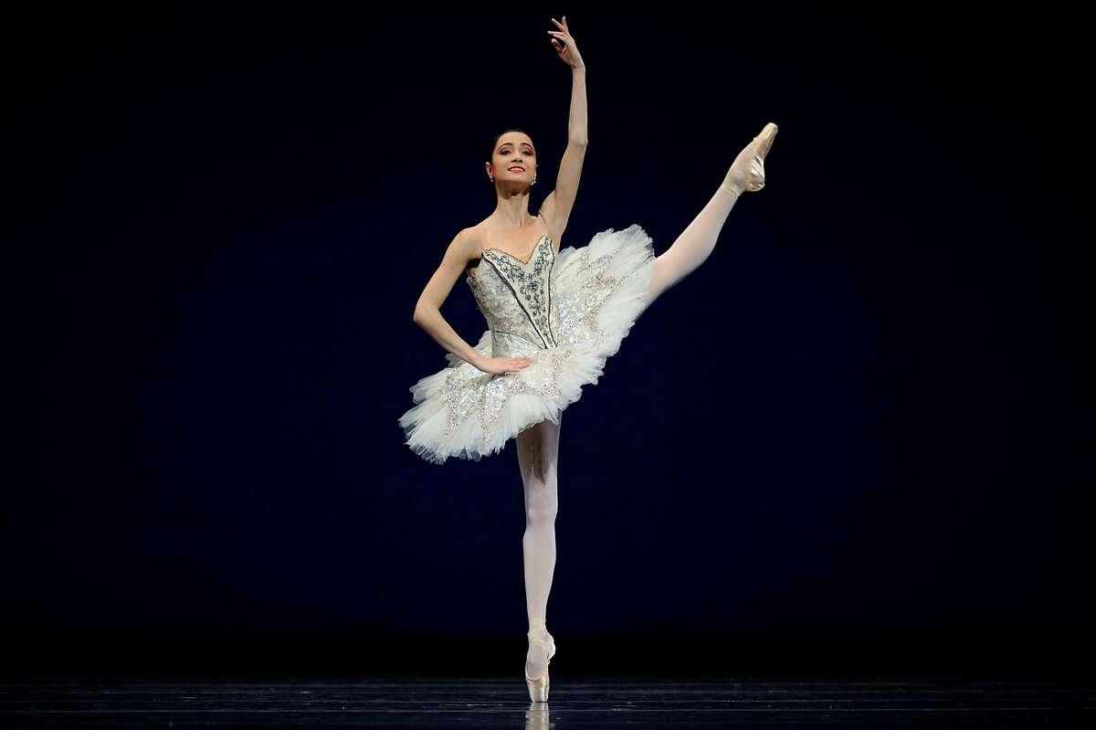 Caption: San Francisco Ballet principal dancer Mathillde Froustey performs in Gsovsky's