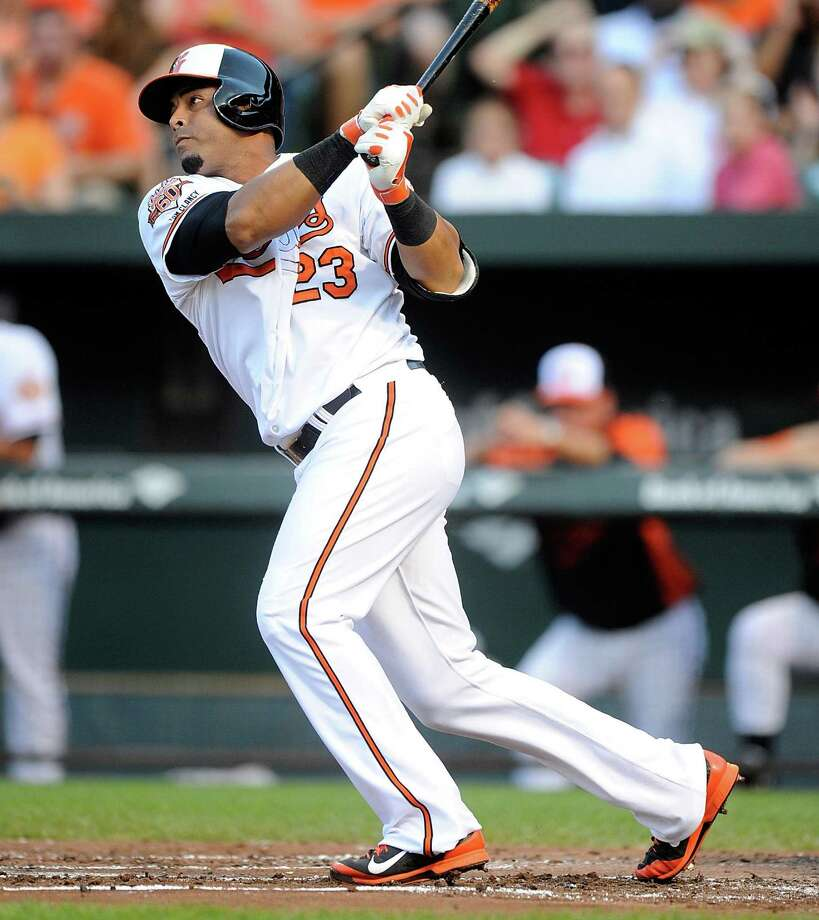Nelson Cruz, Baltimore Orioles, starting designated hitter for the American League.  Photo: Greg Fiume / Getty Images / 2014 Getty Images