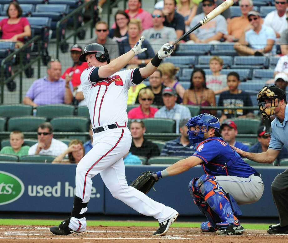 ATLANTA, GA - JULY 2: Chris Johnson #23 of the Atlanta Braves hits a three run double in the first inning against the New York Mets at Turner Field on July 2, 2014 in Atlanta, Georgia. (Photo by Scott Cunningham/Getty Images) ORG XMIT: 477585935 Photo: Scott Cunningham / 2014 Getty Images