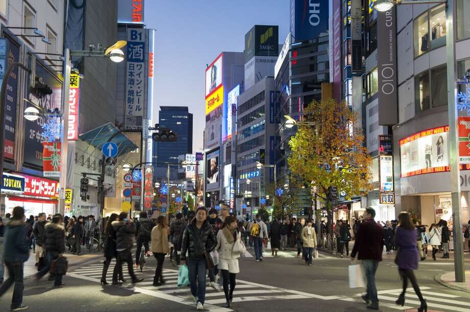 No. 5 least welcoming: Tokyo.Could it be that the bustling streets of areas such as Shinjuku put off some global travelers? Only 3 percent  named it least welcoming, but that was enough to make the top 5 of unfriendly cities. Photo: Rachel Lewis, Getty Images/Lonely Planet Images