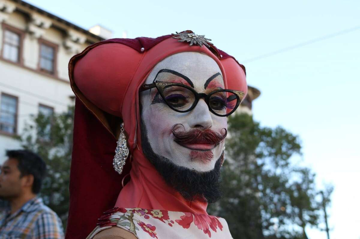 A Sister of Perpetual Indulgence (pictured) was attacked on Pink Saturday in the Castro in 2014.