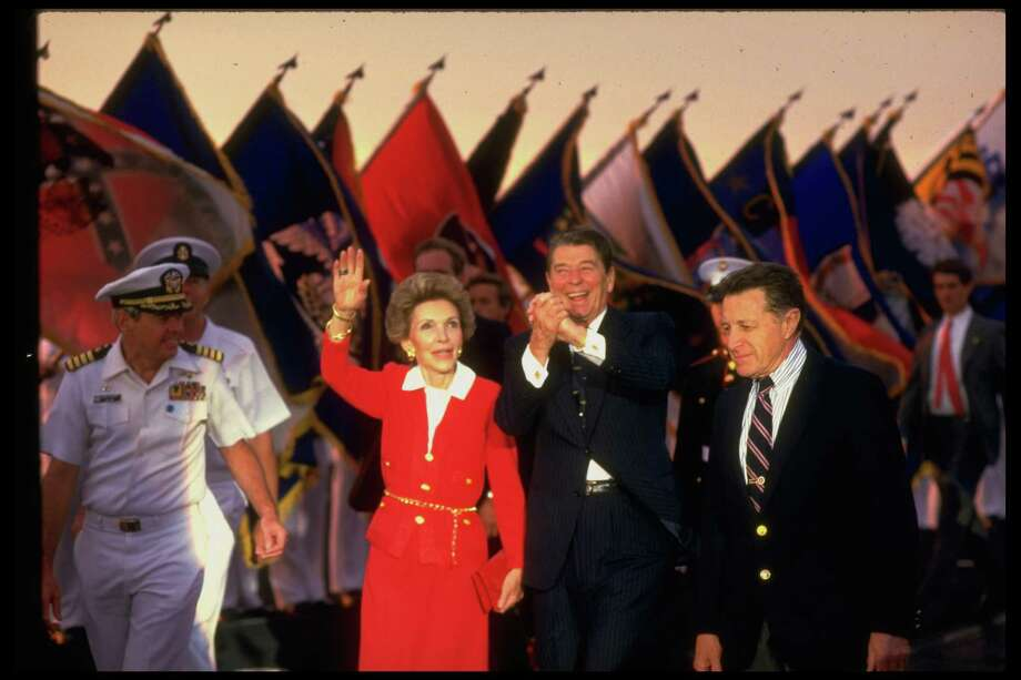 1986 -- Looking a little red there, Nancy. Photo: Diana Walker, Getty Images / Diana Walker