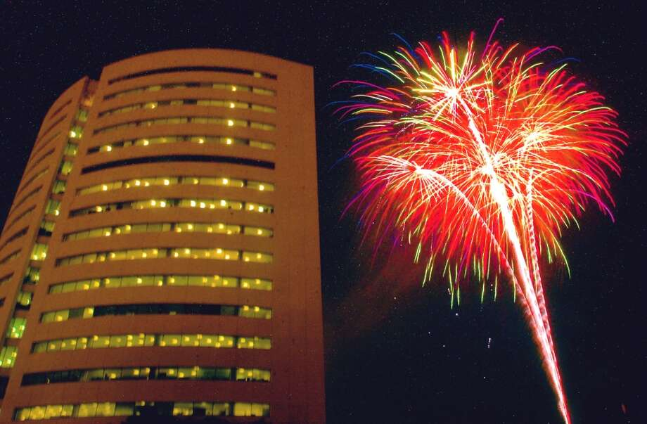 The fireworks display put on by the City of Beaumont will likely proceed in spite of burn bans in some Southeast Texas counties.Jefferson County commissioners were expected to rule Monday  on whether there will be a full or partial ban on Fourth of July fireworks in the county. Enterprise file photo Photo: File