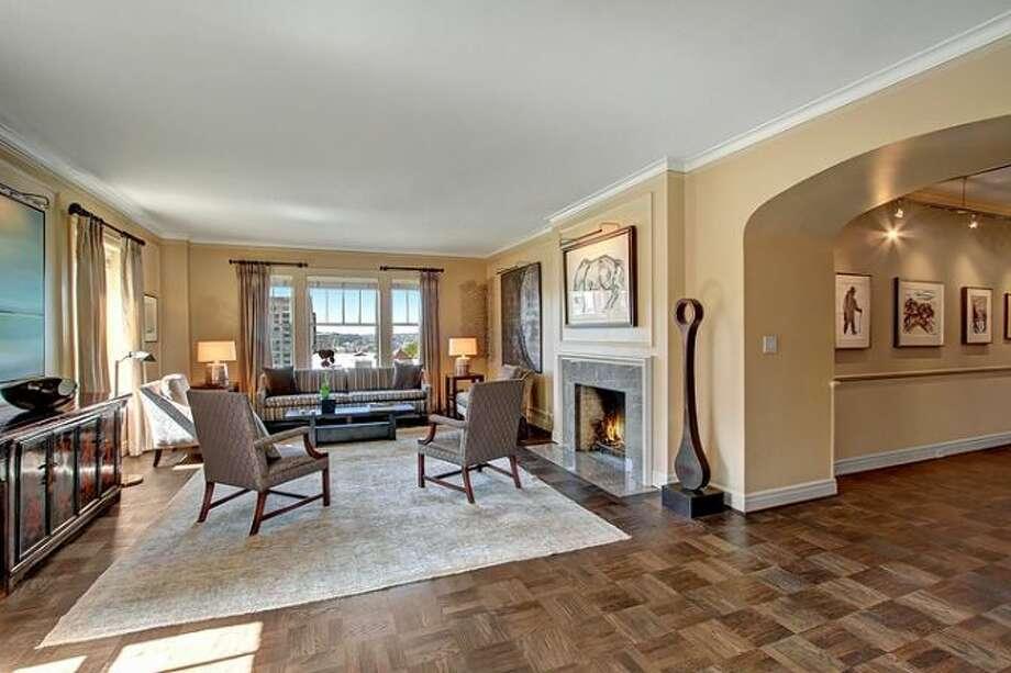 Living room of 1223 Spring St., Unit 801. Photo: Courtesy Sharon Parmenter/Windermere Real Estate