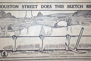 This illustration originally appeared in the Houston Press as part of a competition during the 1920s.