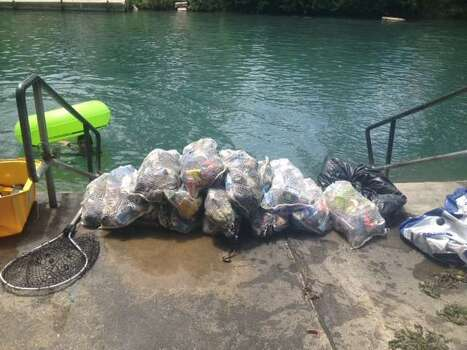 Trash from the 2013 Memorial Day Weekend cleanup. Photo: Courtesy/City Of New Braunfels