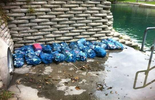Trash from the 2012 Memorial Day Weekend cleanup. Photo: Courtesy/City Of New Braunfels