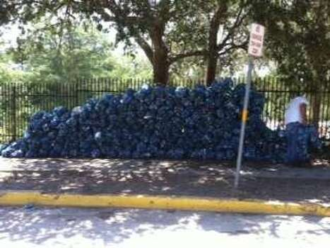 Trash from the 2011 Memorial Day Weekend cleanup. Photo: Courtesy/City Of New Braunfels