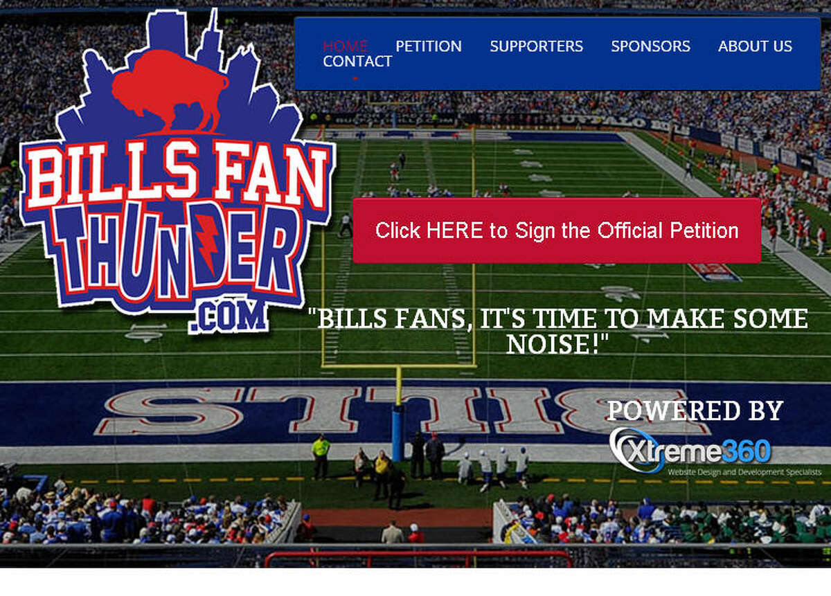 Buffalo Bills fans who want to keep the team in Buffalo started a website that earlier included the phrase '12th Man,' catching the attention of Texas A&M. Photo: BillsFanThunder.com