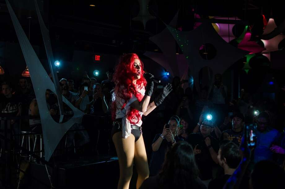Adore Delano performing at South Beach nightclub during the Pride Superstar competition in Houston. Photo: Sara Kelly