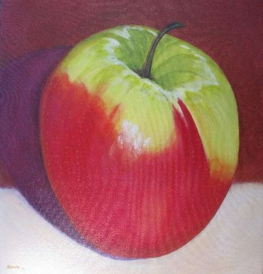 "Steve Smith's ""Apple"" will be in the Bay Area Now show. Photo: Courtesy San Quentin Prison Arts"