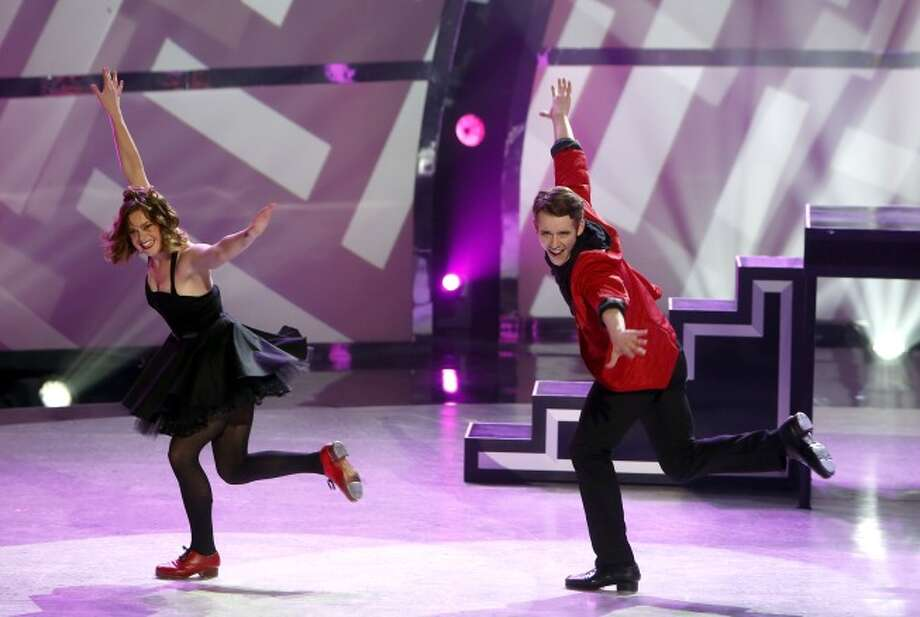 "SO YOU THINK YOU CAN DANCE: L-R: Top 20 contestants Zack Everhart, Jr. and Valerie Rockey perform a Tap routine to ""Sing"" choreographed by Anthony Morigerato on SO YOU THINK YOU CAN DANCE airing Wednesday, July 2 (8:00-10:00 PM ET/PT) on FOX. ©2014 FOX Broadcasting Co. Cr: Adam Rose / 1"