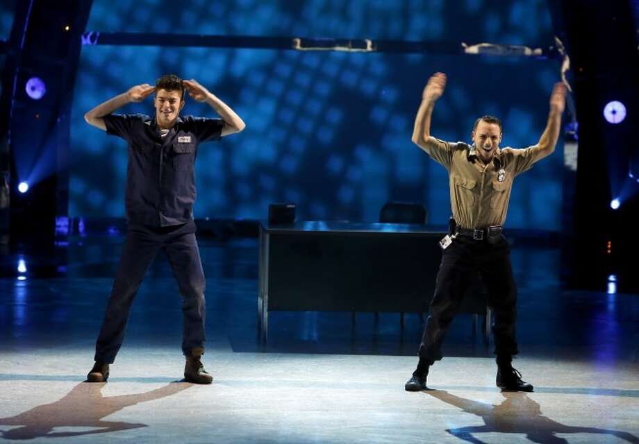 "SO YOU THINK YOU CAN DANCE: L-R: Top 20 contestants Emilio Dosal and Teddy Coffey perform a Hip-Hop routine to ""Nightshift"" choreographed by Christopher Scott on SO YOU THINK YOU CAN DANCE airing Wednesday, July 2 (8:00-10:00 PM ET/PT) on FOX. ©2014 FOX Broadcasting Co. Cr: Adam Rose / 1"