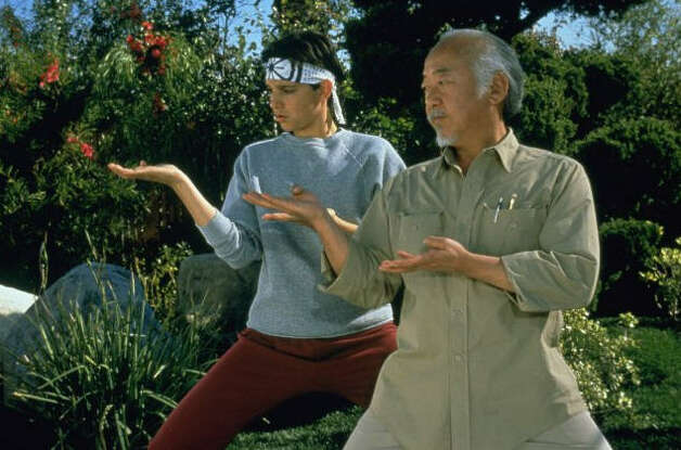 """The Karate Kid, Part III"" – Daniel LaRusso and Mr. Miyagi are forced to defend themselves against an old rival, the sinister Cobra Kai sensei they defeated in the first film. Available July 1 Photo: Columbia Pictures"