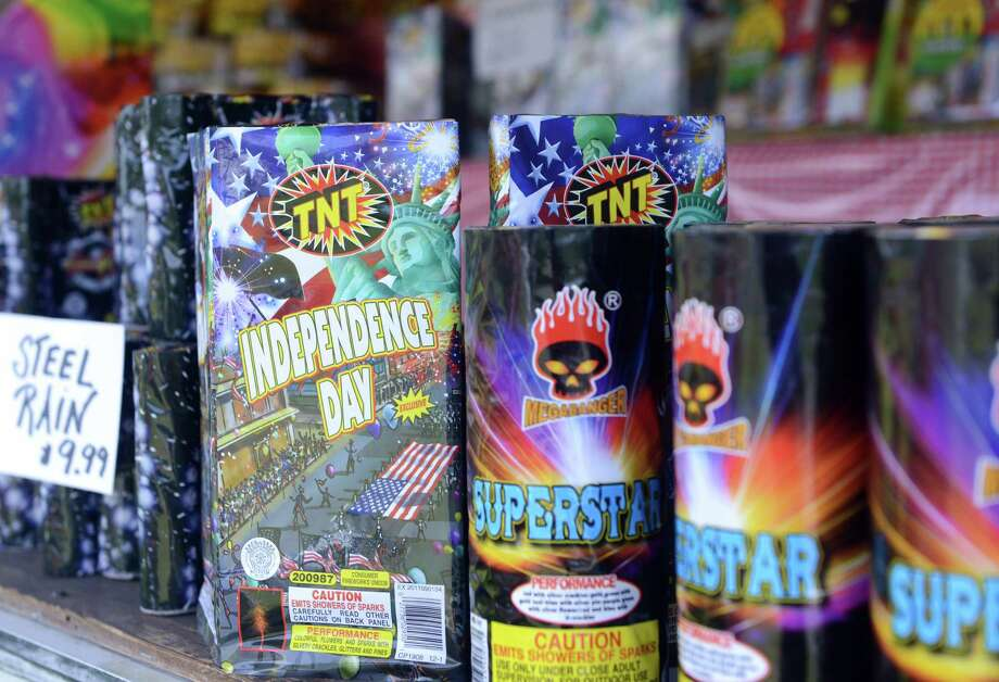 Fireworks for sale Wednesday, July 2, 2014 near the Tri-Town Plaza in Seymour, Conn. Photo: Autumn Driscoll / Connecticut Post
