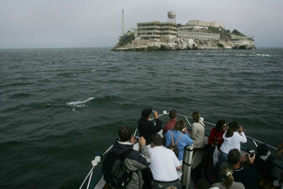 From the bow of the Lovely Martha, $15 boat tour cruises SF shore, Alcatraz and Golden Gate Photo: Mike Kepka, The Chronicle