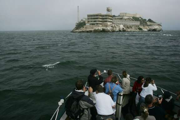 1. From the bow of the Lovely Martha, $15 boat tour cruises SF shore, Alctraz and Golden Gate