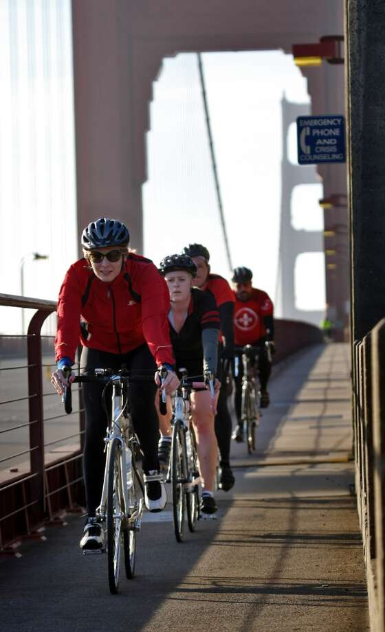 3. Ride from SF, over the Golden Gate Bridge to Sausalito, return by ferry Photo: Lacy Atkins, The Chronicle