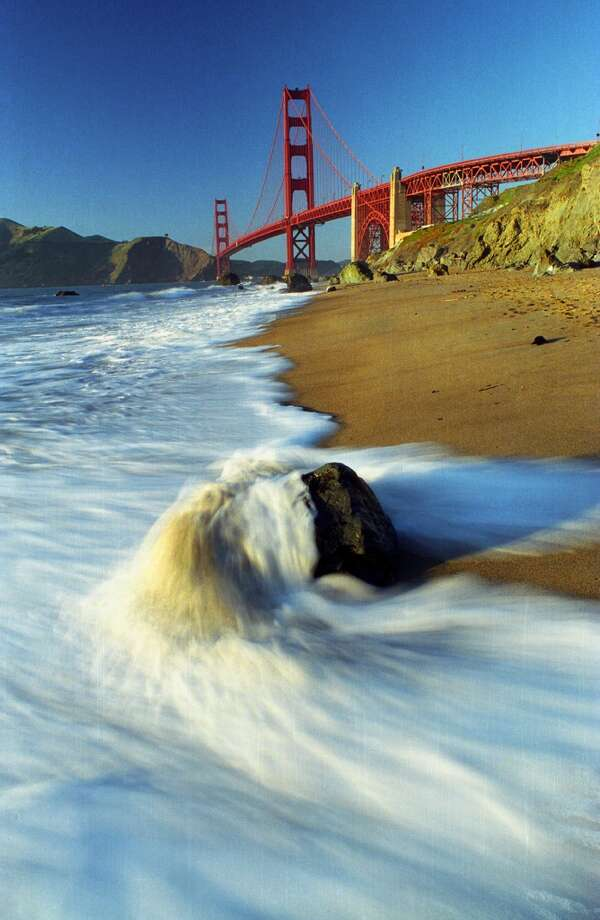 7. The scenery of Baker Beach, provides the location site for TV advertisements Photo: Robert Vente