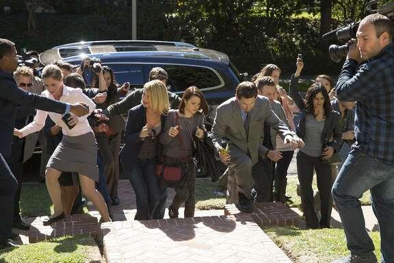 "Kathryn Prescott (""Carter""), center, in MTV's, ""Finding Carter."""