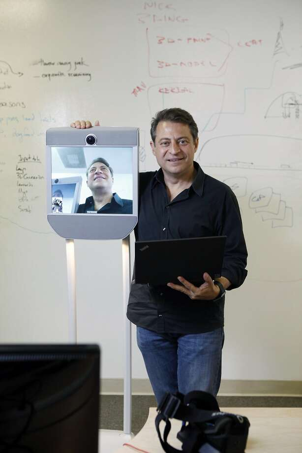 Peter Diamandis at the Singularity University in Mountain View, which was founded in 2008, with the mission of inspiring people to create companies that have an impact on a billion people positively within 10 years. Photo: Michael Short, The Chronicle