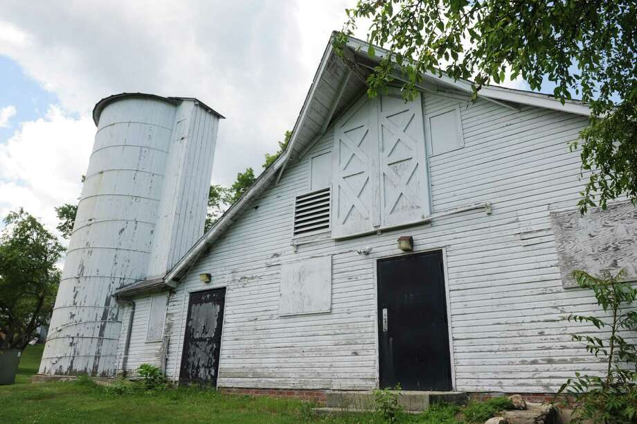 A tour of the buildings at Sterling Farms Golf Course, which used to be a dairy farm,  n Stamford, Conn on Friday June 27, 2014. The back of one of the Curtain Call building which used to be a milking barn. Photo: Dru Nadler / Stamford Advocate