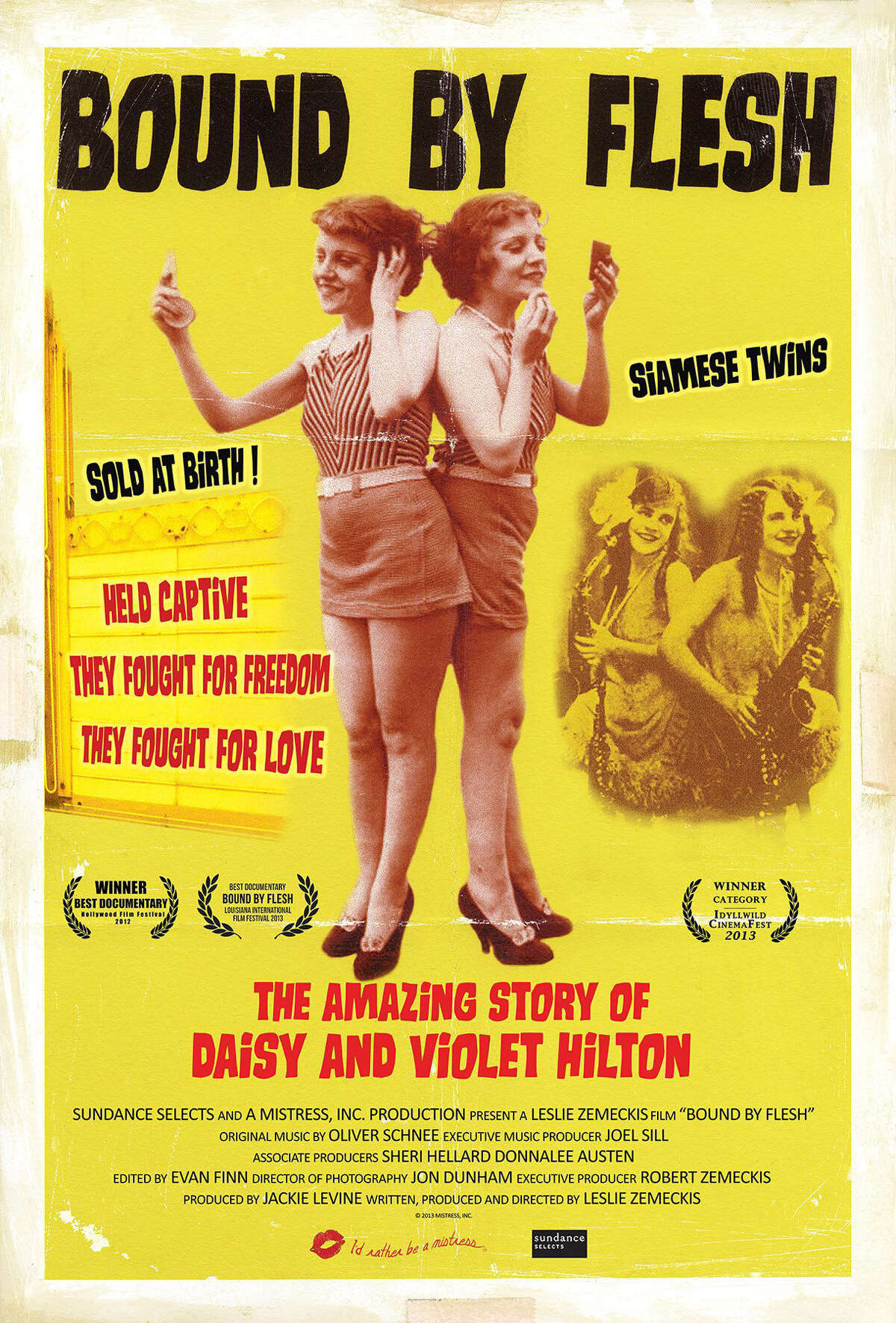 'Bound by Flesh' -Perhaps the most famous conjoined twins of all time, the Hiltons became a vaudeville sensation before falling on hard times and dying in poverty. This absorbing documentary follows their unique life, which was fraught with exploitation and hardship. Available Oct. 28