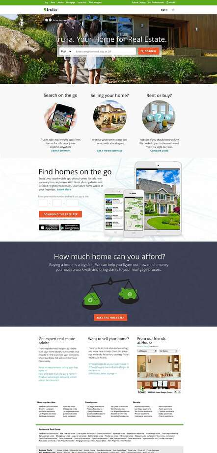 Trulia's site is prettier than Craigslist's, but Craigslist still dominates the rental listings market. Photo: Trulia