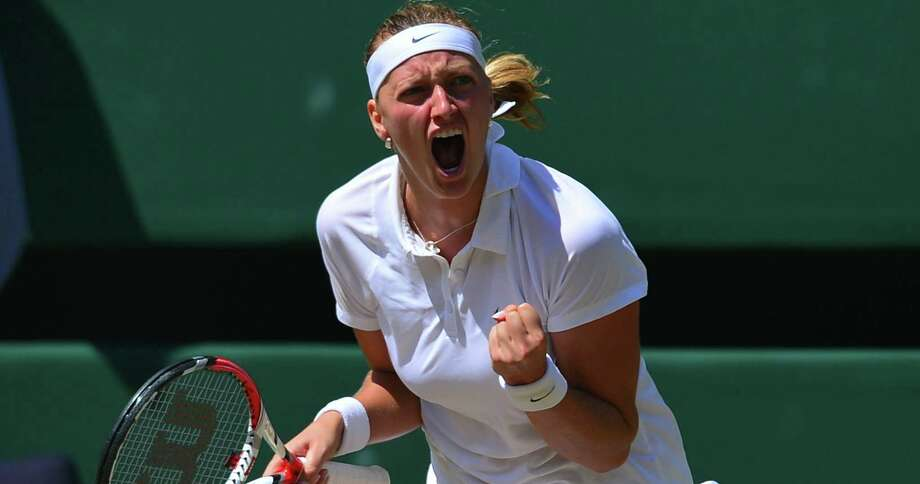 Petra Kvitova (right) of the Czech Republic, who won Wimbledon in 2011, will aim for her second crown after defeating compatriot and friend Lucie Safarova 7-6 (6), 6-1 in the other semifinal. Photo: Carl Court / AFP / Getty Images / AFP