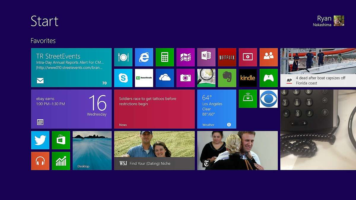 FILE - This Wednesday, Oct. 16, 2013 file image shows a pre-release version of Windows 8.1 on a tablet in Los Angeles. A new, yet-unnamed Windows update is expected this spring, just months after the Windows 8.1 update came out. (AP Photo/Ryan Nakashima, File )