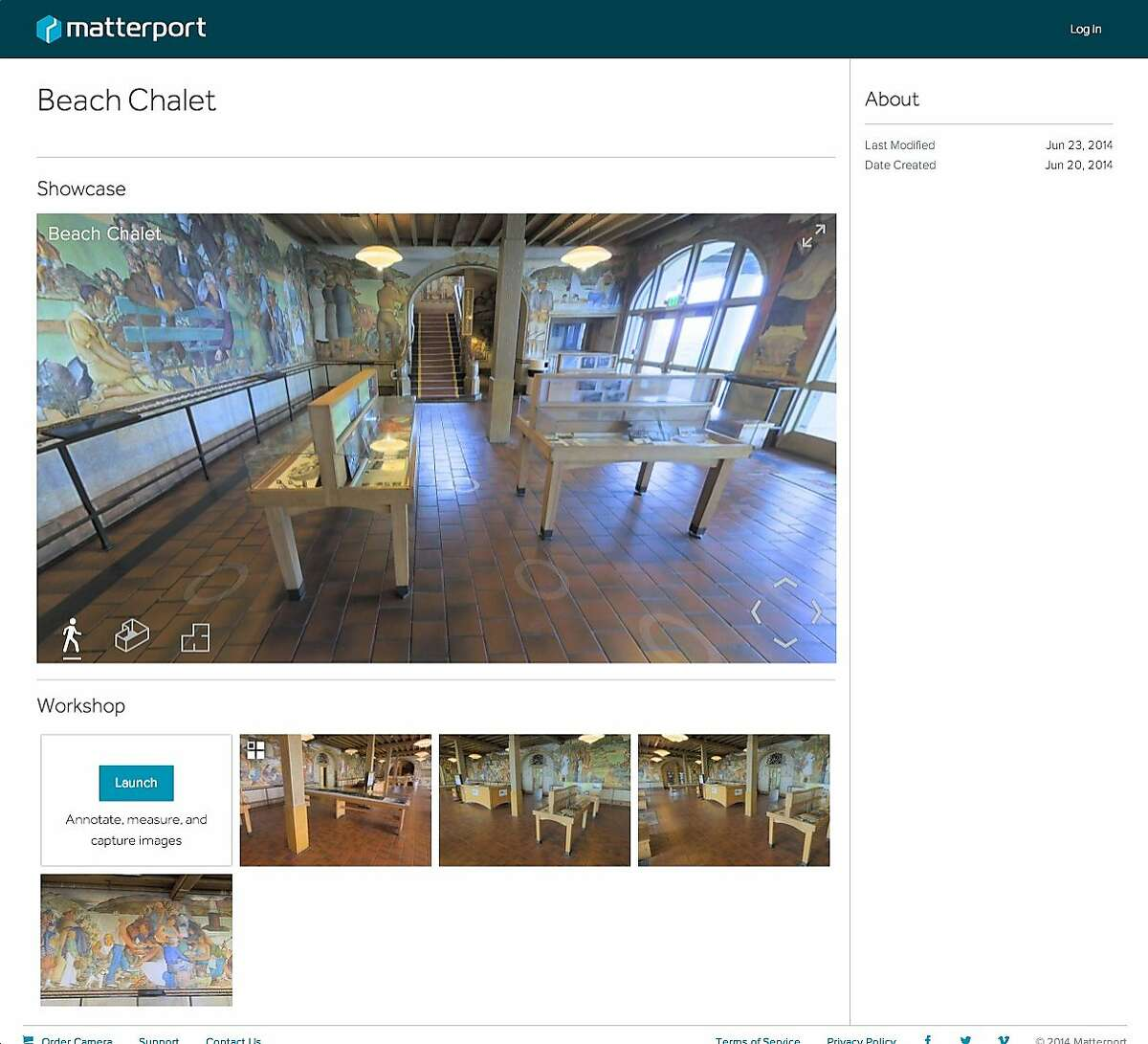 Matterport creates cloud-based 3D models of real-world spaces that can be experienced, changed, and shared online. The Matterport 3D System uses a patented camera, controlled through the user's Apple iPad, to capture 3D and 2D images of an interior space. The camera rotates on a tripod that the user places around a room to capture every aspect of the space.