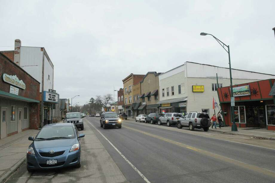 A view looking down Park St. in downtown on Thursday March 29, 2012 in Tupper Lake, NY.(Paul Buckowski / Times Union) Photo: Paul Buckowski / 00017012A