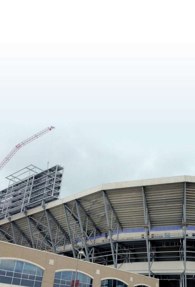 Kyle Field will feature arguably the largest scoreboard in college sports at 47 feet by 163 feet when all is said and done. Photo: Brent Zwerneman / Houston Chronicle