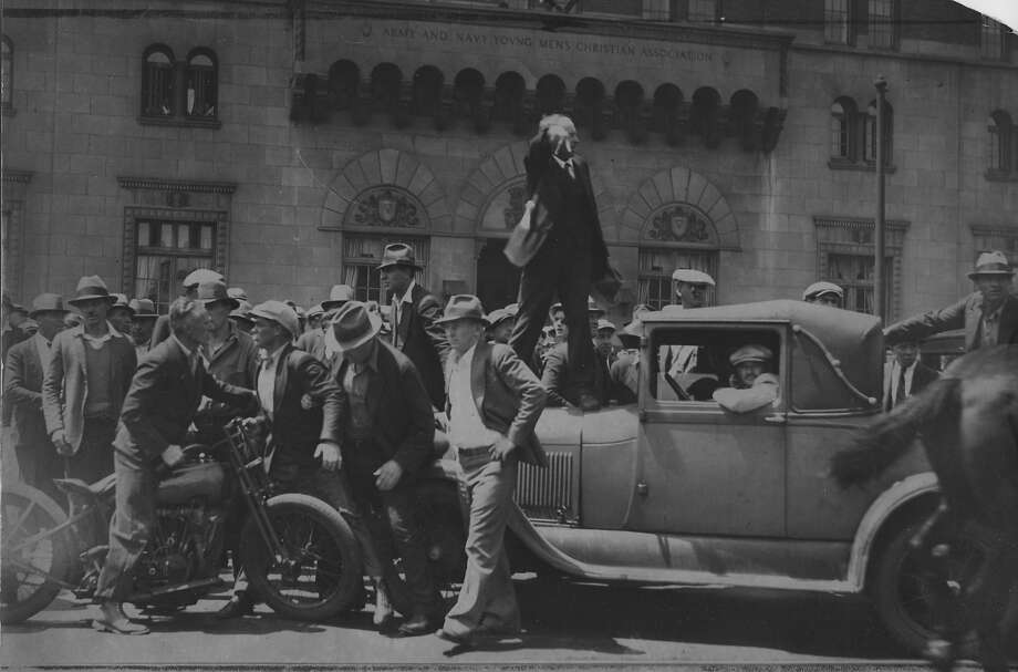 Workers who handled cargo on San Francisco's waterfront struggled to unionize. Their battle turned bloody July 5, 1934, when police shot into a crowd of strikers, killing two men. Photo: The Chronicle